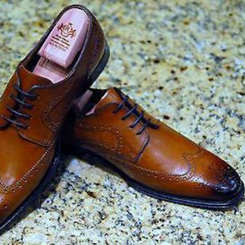 NEW FLORSHEIM CLASSICO WING OXFORD COGNAC or Black MENS SHOES