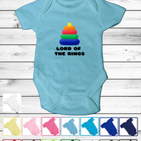Baby Lord Of the Rings Inspired Onesuit - 5 sizes -15 colors - Lord Of the Rings Design  funny bodysuit shower gift custom