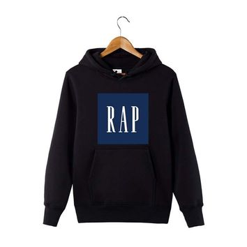 Autumn and winter hohoodies men RAP GAP Hip Hop Wutang Printed hoodie sweatshirt cotton Long sleeve fleece streetwear