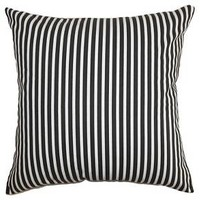 The Pillow Collection Ticking Stripe Decorative Pillow : Target