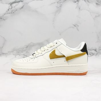 Nike Air Force 1 Vandalized Low Sail Black-Chrome Yellow-White Sneaker - Best Deal Online