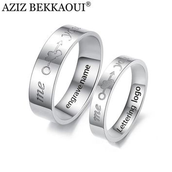 Couple Engraved Wedding Rings