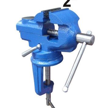 """2""""  Swivel Bench Vise Clamp With Anvil Vice Hobby Tool Table Vise Type Cast Iron"""