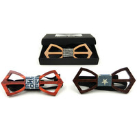 Fashion men wooden bow tie Accessory wedding Event hardwood Wood Bow Tie For Men Butterfly Neck Ties