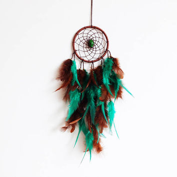 Dream Catcher, Boho Dreamcatcher, Green Dreamcatcher, Native American, Boho Wall Hanging, Boho Home Decor, Bohemian Decor, Boho Chic