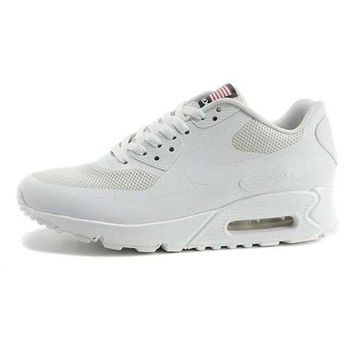 DCCKIN2 Nike Air Max 90 American Flag Men s Women s Shoes All White