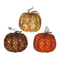 Glittery Mini Pumpkins