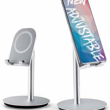 DinoCase Adjustable Cell Phone Stand, [2018 Design] Tablet Stand Holder, Multi Angle, Aluminum Modern Accessories Desk Desktop iPad Pro iPhone