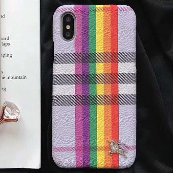 Perfect Burberry Fashion iPhone Phone Cover Case For iphone 6 6s 6plus 6s-plus 7 7plus 8 8plus X