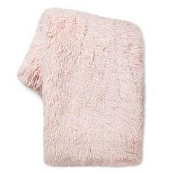 Peach Long Faux Fur Throw - Xhilaration™