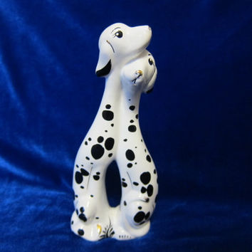 Vintage Porcelain Figurine  Russian  ceramic dogs 1970 ukrainian
