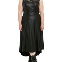 Tripp Faux Leather Lace Dress Plus
