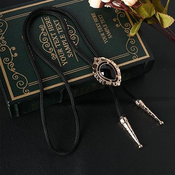 Men's Suits Cowboy Metal Bolo Tie Alloy Handmade Shirt Poirot Business Necktie Necklace Chain Bolo Bow Tie Collar