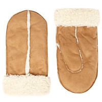 Camel sherpa mitten - New In Accessories   - What's New