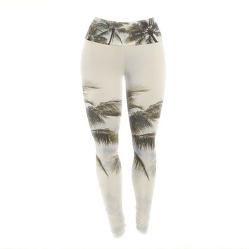 "Catherine McDonald ""Boho Palms"" Coastal Trees Yoga Leggings"