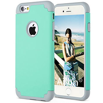 iPhone 6 plus Case,[5.5inch]by Ailun,Soft Interior Silicone Bumper&Hard Shell PC Back,Shock-Absorption&Skid-proof,Anti-Scratch Hybrid Dual-Layer Cover[Green]
