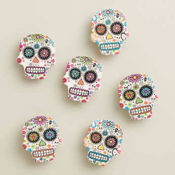Day of the Dead Wood  Clips, Set of 6 - World Market