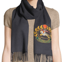 Burberry Vintage Crest Embroidered Cashmere Scarf