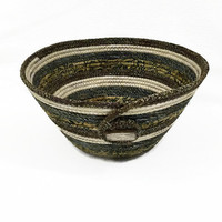 Coiled Fabric Bowl, Basket, Browns