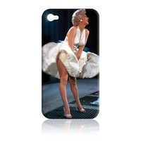 Marilyn Monroe Snap-On Carrying Case for iPhone 4 - Black with Marilyn Smiling - Fits AT&T iPhone