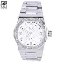 Jewelry Kay style Men's Luxury Iced Out CZ Fashion Stainless Steel Heavy Metal Band Watch 7966 S