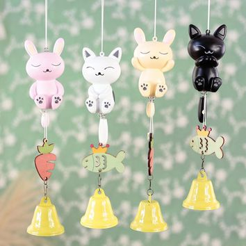 Lovely Cat Wind Chimes Window Hanging Decor Pendant Bell (1 pc)