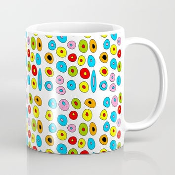 multicolor 3 polka dot-polka dot,pattern,dot,polka,circle,disc,point,abstract,kitsch Coffee Mug by oldking
