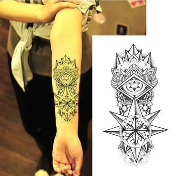 Fake Temporary Tattoos Shoulder Arm Transfer Tattoo Stickers Totem Sexy Men Women Waterproof Body Art HS11