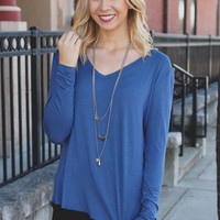 Feel Good Top - Cobalt