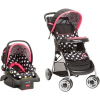 Disney Baby Lift & Stroll Plus Travel System, Minnie Coral Flowers - Walmart.com