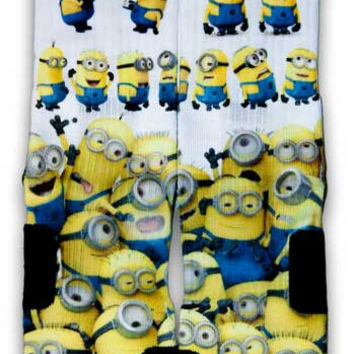 Minions Custom Elite Socks