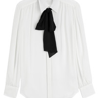 Polo Ralph Lauren - Silk Blouse with Black Bow