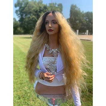 Donna Natural Hair Wig, Ombre' Light Blonde Waves