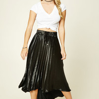 Satin Accordion Skirt