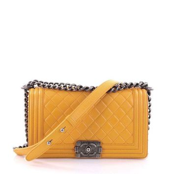 Chanel Flap Quilted Leather Tote Bag F