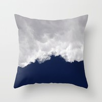 Rumble Blue Throw Pillow by Lisa Argyropoulos