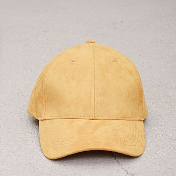 Men Faux Suede Baseball Cap