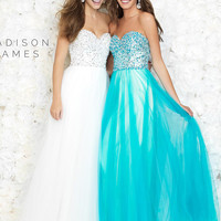 Madison James Tulle Prom Dress 15-177