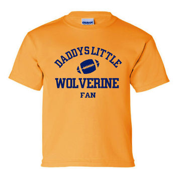 DADDYS LITTLE MICHIGAN Fan Wolverine Fan Kids Tee Printed Football Tee Great Shirt For Your Wolverine Fan Kids Toddler Creepers