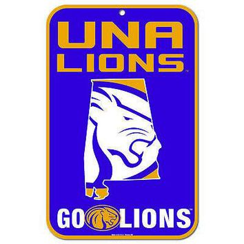 """Licensed North Alabama Lions NCAA 11"""" x 17"""" State Plastic Wall Sign 11x17 Wincraft KO_19_1"""
