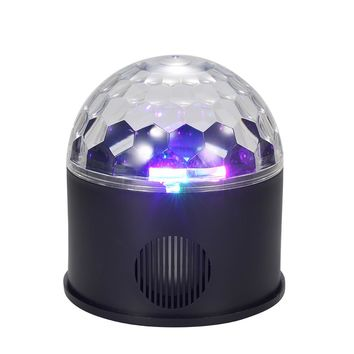 STYLEDOME Connected 9 Colors Magic Ball Light Lamp Speaker with Remote Control