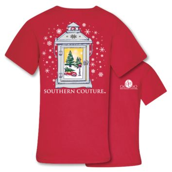 Southern Couture Preppy Christmas Lantern Holiday T-Shirt
