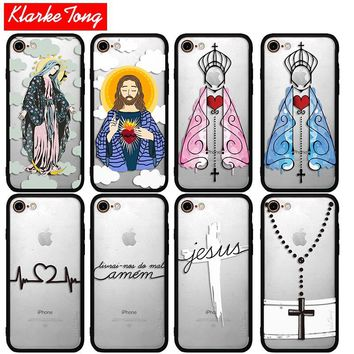 Jesus Case For iPhone 7 6 6s Plus 5 5s SE Hybrid Silicone Matte Hard PC Protective Phone Back Cover