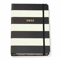 Kate Spade 2015 Black Stripe Medium Agenda