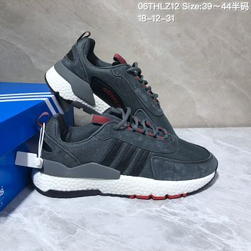 HCXX A539 Adidas 2019 New Fashion EQT ZX Boost Running Shoes Dark Gray