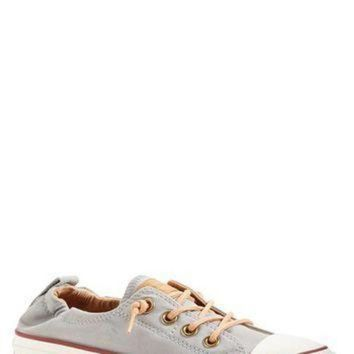 CREYONV converse chuck taylor all star peached shoreline low top slip on sneaker women