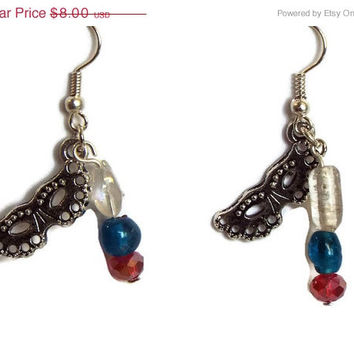 Clearance price to GO Red, White & Blue Masque Earrings