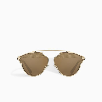 dior so real sunglasses, gold tone - Dior