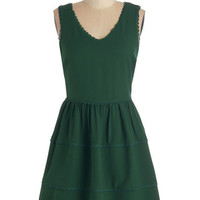 ModCloth Mid-length Sleeveless A-line Need We Say Sycamore? Dress in Forest