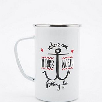 Things Worth Fighting For Mug - Urban Outfitters